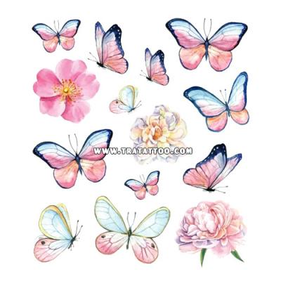 """Тату-стикер """"Butterflies"""""""