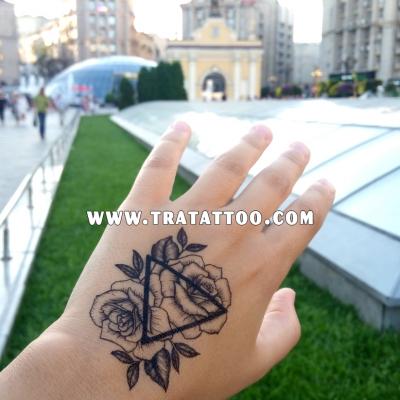 "Тату-стикер ""Roses"""