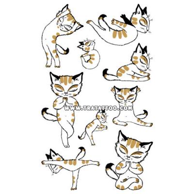 "Тату-стикер ""Yoga Cat"""
