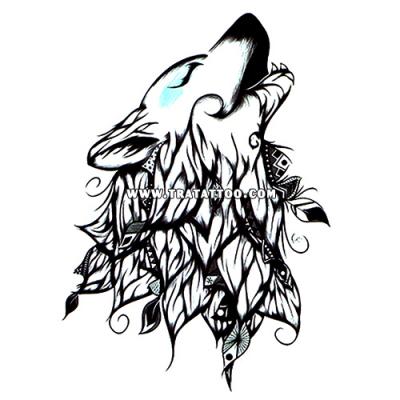 """Тату-стикер """"Волчица"""""""