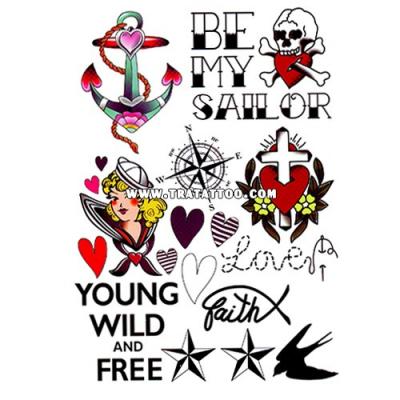 "Тату-стикер ""Wild & Free"""