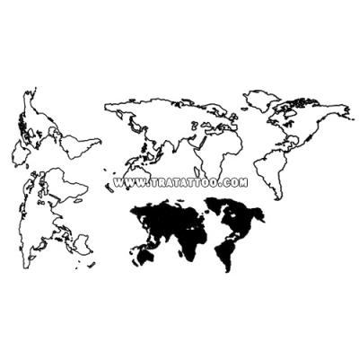 """Тату-стикер """"World"""""""