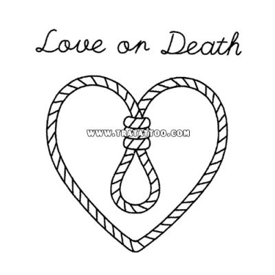 "Тату-стикер ""Love on Death"""