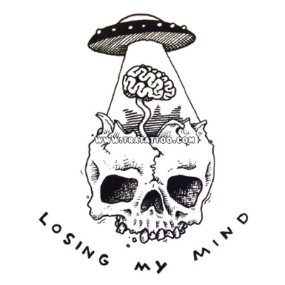 "Тату-стикер ""Losing my mind"""