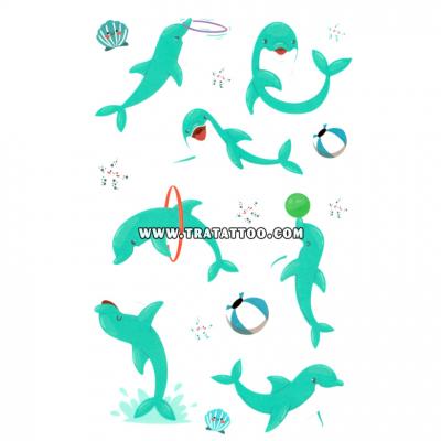 """Тату-стикер """"Дельфин"""""""