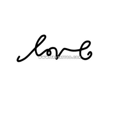 """Тату-стикер """"Love"""""""