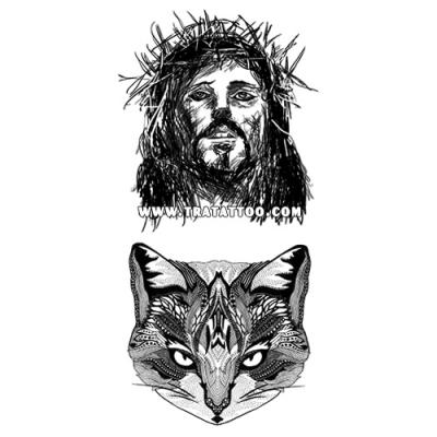 "Тату-стикер ""Jesus"""